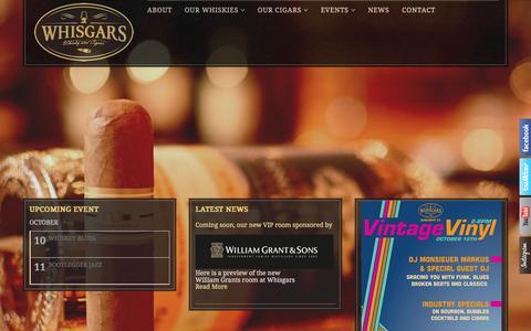 Screenshot of Home Page whisgars.com - Whisgars - Whisky and Cigars   Whisky and Cigars - captured Oct. 7, 2014