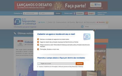 Screenshot of Home Page televendasecobranca.com.br - Blog Televendas & Cobrança - captured July 9, 2017