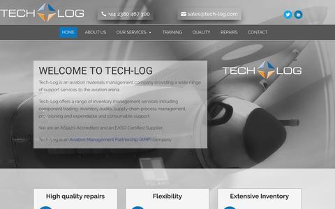 Screenshot of Home Page tech-log.com - Home - Tech-Log - captured Sept. 21, 2018
