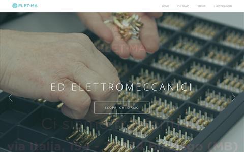 Screenshot of Home Page eletma.it - Elet.ma assemblaggio di componenti elettronici ed elettromeccanici - captured Dec. 6, 2015