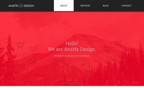 Screenshot of About Page anattadesign.com - About Anatta Design | Anatta Design - captured Oct. 30, 2014