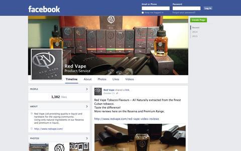 Screenshot of Facebook Page facebook.com - Red Vape | Facebook - captured Oct. 26, 2014