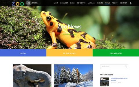 Screenshot of Press Page senecaparkzoo.org - News - Seneca Park Zoo - captured Dec. 18, 2016
