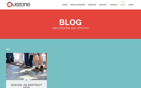 Screenshot of Blog quezone.co - Queuing System   Queue Management Solutions - captured July 19, 2016