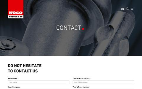 Screenshot of Contact Page koeco.net - Contact | - captured Oct. 25, 2018