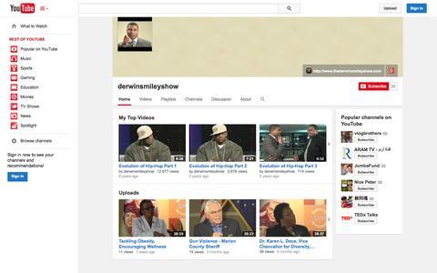 Screenshot of YouTube Page youtube.com - derwinsmileyshow  - YouTube - captured Oct. 26, 2014