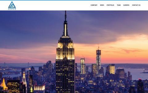 Screenshot of Home Page aronisgroup.com - Aronis Group - captured Sept. 30, 2014