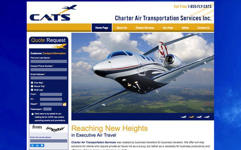 Screenshot of Home Page flycats.ca - Air Charter Service Toronto | Private Jet Charters Toronto| FlyCats - captured Oct. 2, 2014