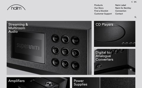 Screenshot of Products Page naimaudio.com - Naim Audio | Home Audio Systems | High-Fidelity Streaming | High-End Audio l Hi-Fi Music Systems - captured Nov. 4, 2014