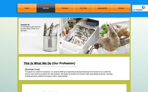 Screenshot of FAQ Page lpfoods.com.sg - lpfoods | Services - captured Sept. 25, 2018