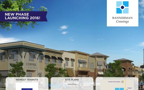Screenshot of Home Page bannermancrossings.com - Bannerman Crossings: GREAT RETAIL AND OFFICE SPACE AVAILABLE - captured March 11, 2016