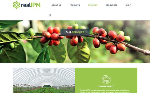 Screenshot of Services Page realipm.com - Services - Real IPM - captured Oct. 18, 2018