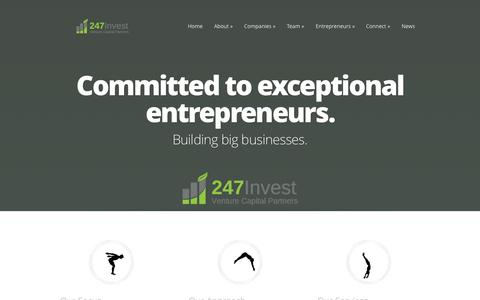 Screenshot of Home Page 247invest.net captured Oct. 9, 2014