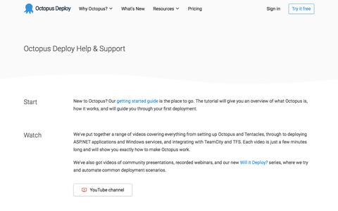 Screenshot of Contact Page Support Page octopus.com - Octopus Deploy Help & Support | Octopus Deploy - captured Aug. 4, 2019