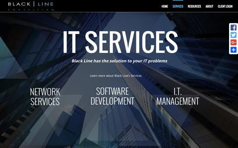 Screenshot of Services Page blacklineconsulting.com - Services - Black Line Consulting - captured Nov. 14, 2015