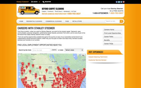 Screenshot of Jobs Page stanleysteemer.com - Careers - captured Sept. 24, 2014