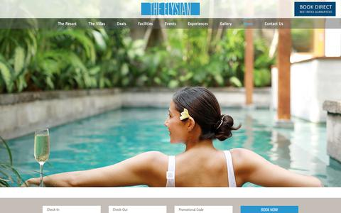 Screenshot of Press Page theelysian.com - News - The Elysian Villa - captured Nov. 12, 2019