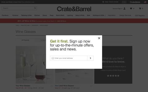 Sale: Wine Glasses & Stemware   Crate and Barrel