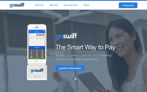Screenshot of Press Page goswiff.com - Home Page - goSwiff - captured Sept. 30, 2014