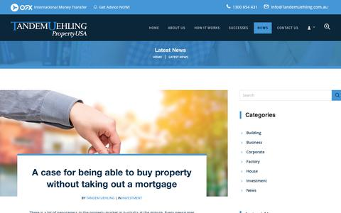 Screenshot of Press Page tandemuehling.com.au - Latest News, Buying Property in USA - Tandem Uehling PropertyUSA - captured June 11, 2017