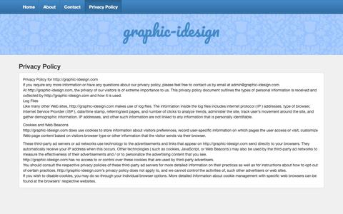 Screenshot of Privacy Page graphic-idesign.com - Privacy Policy – graphic-idesign - captured Oct. 9, 2018