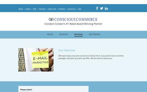Screenshot of About Page cc94.com - Conscious Commerce - captured Dec. 5, 2015
