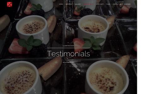 Screenshot of Testimonials Page letmychefbeyours.com - Testimonials - captured Feb. 16, 2016