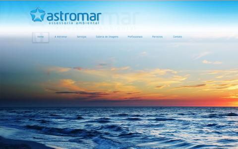 Screenshot of Home Page astromar.com.br - Astromar Assessoria Ambiental - captured Oct. 4, 2014