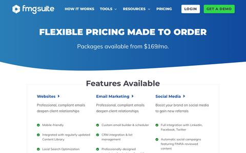 Screenshot of Pricing Page fmgsuite.com - Pricing   FMG Suite - captured Aug. 16, 2019