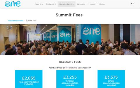 Screenshot of Pricing Page oneyoungworld.com - The Hague Pricing 2018 | One Young World - captured Nov. 9, 2018