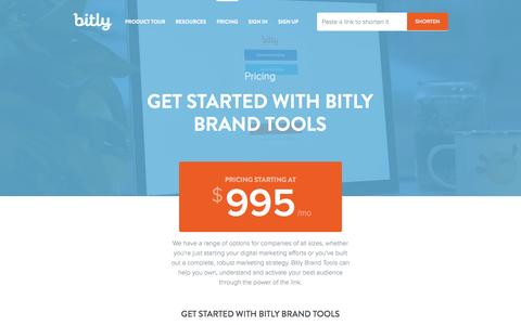 Screenshot of Pricing Page bitly.com - Pricing - Bitly Brand Tools | Bitly - captured Oct. 29, 2014