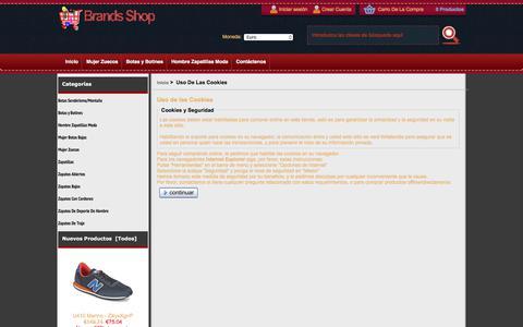 Screenshot of Login Page goshencapital.co - Uso de las Cookies : Tienda Mujer Zuecos, Oficial Zapatos, Tienda Mujer Zapatos - captured July 11, 2017