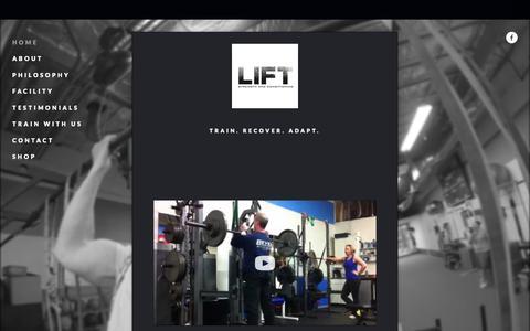 Screenshot of Home Page lift-sc.com - Lift Strength and ConditioningLift Strength and Conditioning - captured June 18, 2015