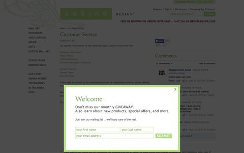 Screenshot of Support Page sakinadesign.com - Customer Service ‹ Sakina Design - captured Sept. 24, 2014