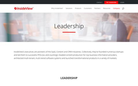Screenshot of Team Page insideview.com - Management - InsideView - captured Oct. 13, 2016