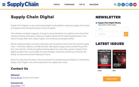 Screenshot of About Page supplychaindigital.com - About Us | Supply Chain Digital - captured June 27, 2017