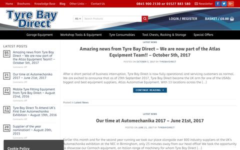 Screenshot of Blog tyrebaydirect.com - Informative Blog Posts and Information from Tyre Bay Direct - captured Feb. 2, 2018