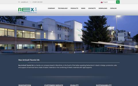 Screenshot of Home Page rex.ch - Home - RexRex - captured Oct. 9, 2014