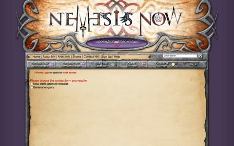 Screenshot of Signup Page nemesisnow.com - Nemesis Now - Trade Application - captured Oct. 31, 2014