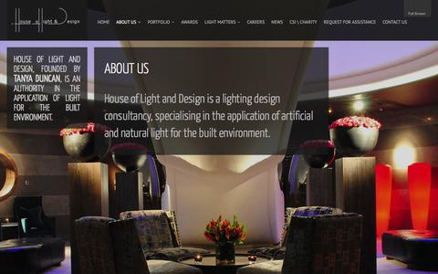 Screenshot of About Page houseoflightanddesign.com captured Dec. 12, 2015