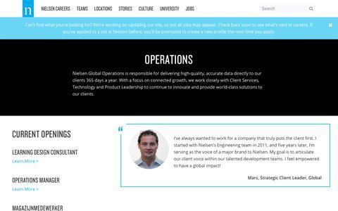 Operations – Nielsen Careers