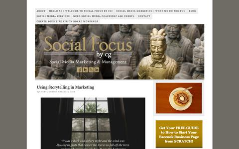 Screenshot of Home Page socialfocusbycg.com - Social Focus by CG   Social Media Marketing   Social Media Management - captured Oct. 18, 2018