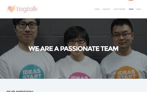 Screenshot of Team Page tagtalk.ca - Team   TagTalk - captured Jan. 12, 2016