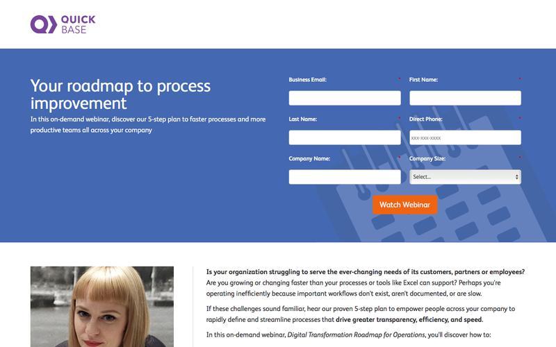 Digital Transformation Roadmap for Operations Webinar   QuickBase
