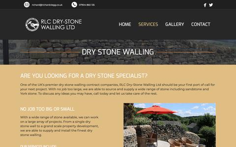 Screenshot of Services Page richardclegg.co.uk - Services - RLC DRY-STONE WALLING LTD - captured Oct. 20, 2018