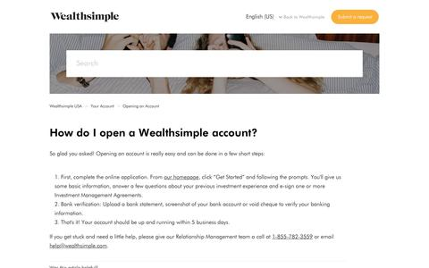 How do I open a Wealthsimple account? – Wealthsimple USA