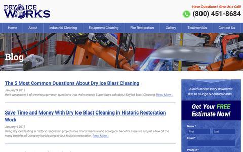 Screenshot of Blog dryiceworks.com - Blog - Dry Ice Works - captured Nov. 14, 2018