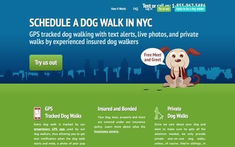 Screenshot of Home Page swifto.com - Swifto | NYC Dog Walking with GPS Tracking - captured June 17, 2015