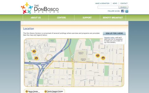 Screenshot of Maps & Directions Page donbosco.org - Location | Don Bosco - captured Oct. 5, 2014