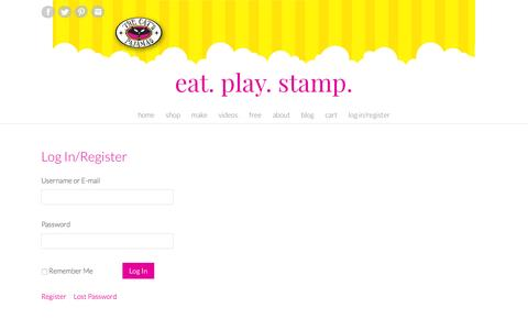 Screenshot of Login Page thecatspajamasrs.com - Log In/Register – Eat. Play. Stamp. - captured May 14, 2016